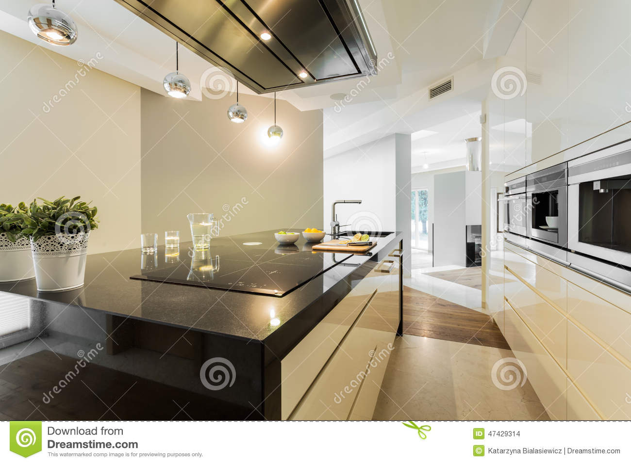 Countertop in designer kitchen stock photo image 47429314 for Kitchen countertop planner