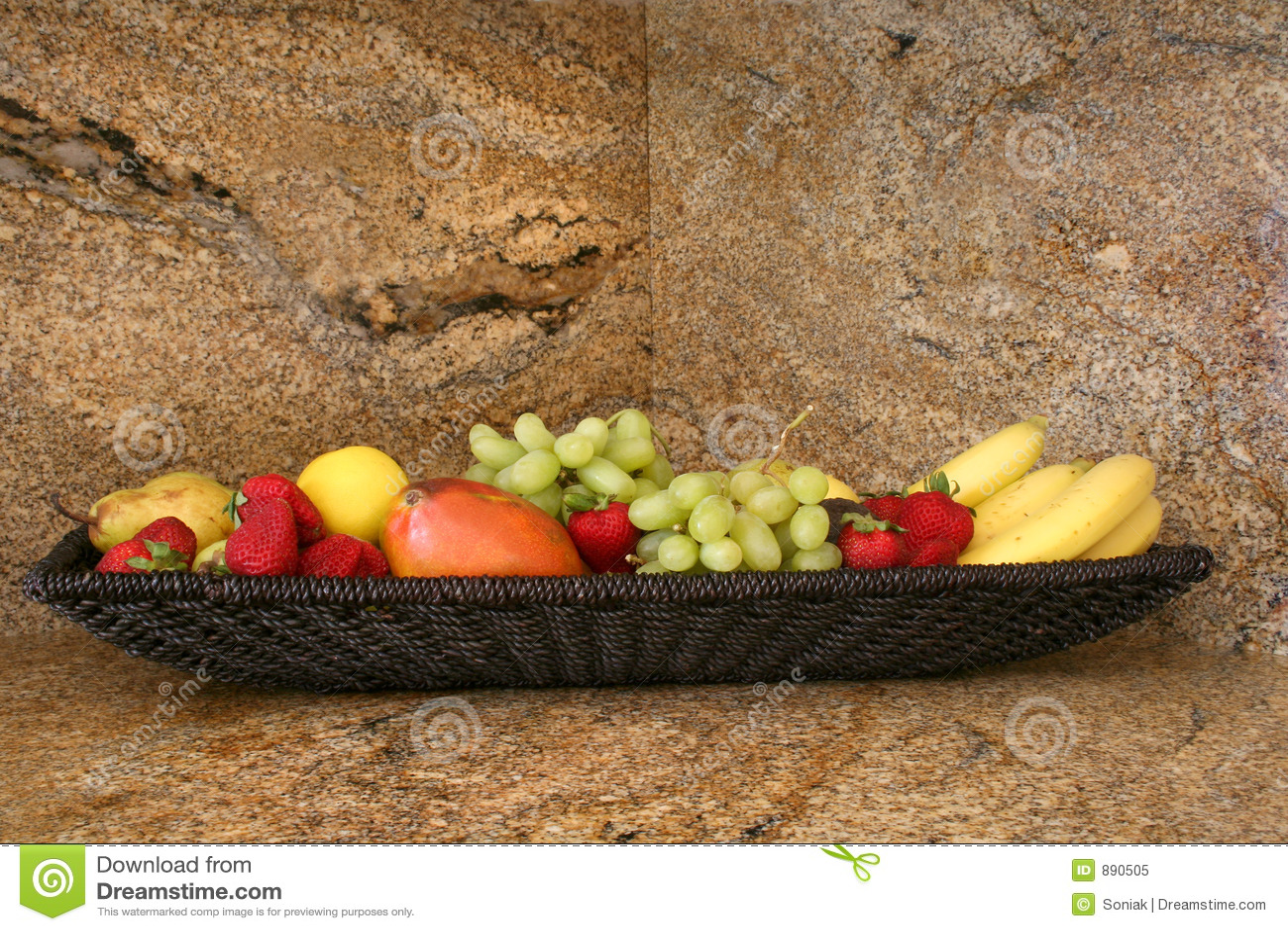 Countertop granitu owoców
