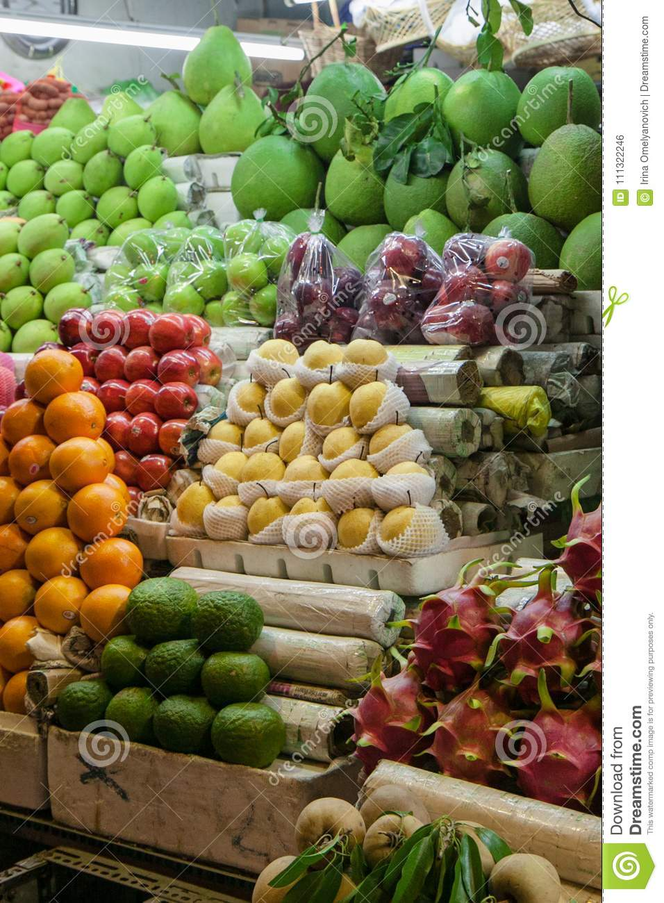 Countertop With Tropical Fruits In Vietnam Stock Photo Image Of Shiny Counter 111322246