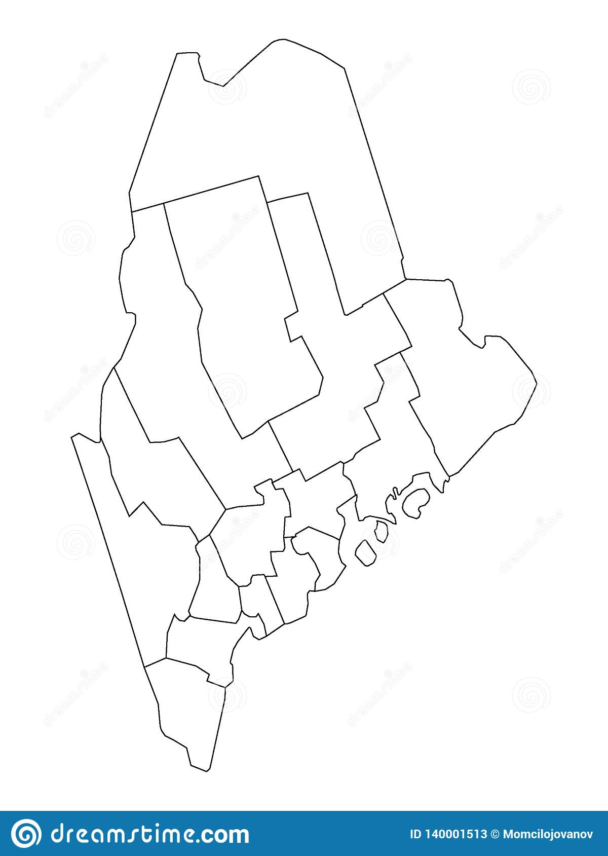 Counties Map Of US State Of Maine Stock Vector ... on maine colleges map, maine regions map, state of maine map, maine towns map, maine state road map printable, maine mountains map, old maine map, maine lakes map, maine legislature map, maine political map, maine land ownership map, maine weather map, maine zip codes map, maine services map, maine real estate map, maine county, maine watersheds map, maine hospitals map, maine city map,
