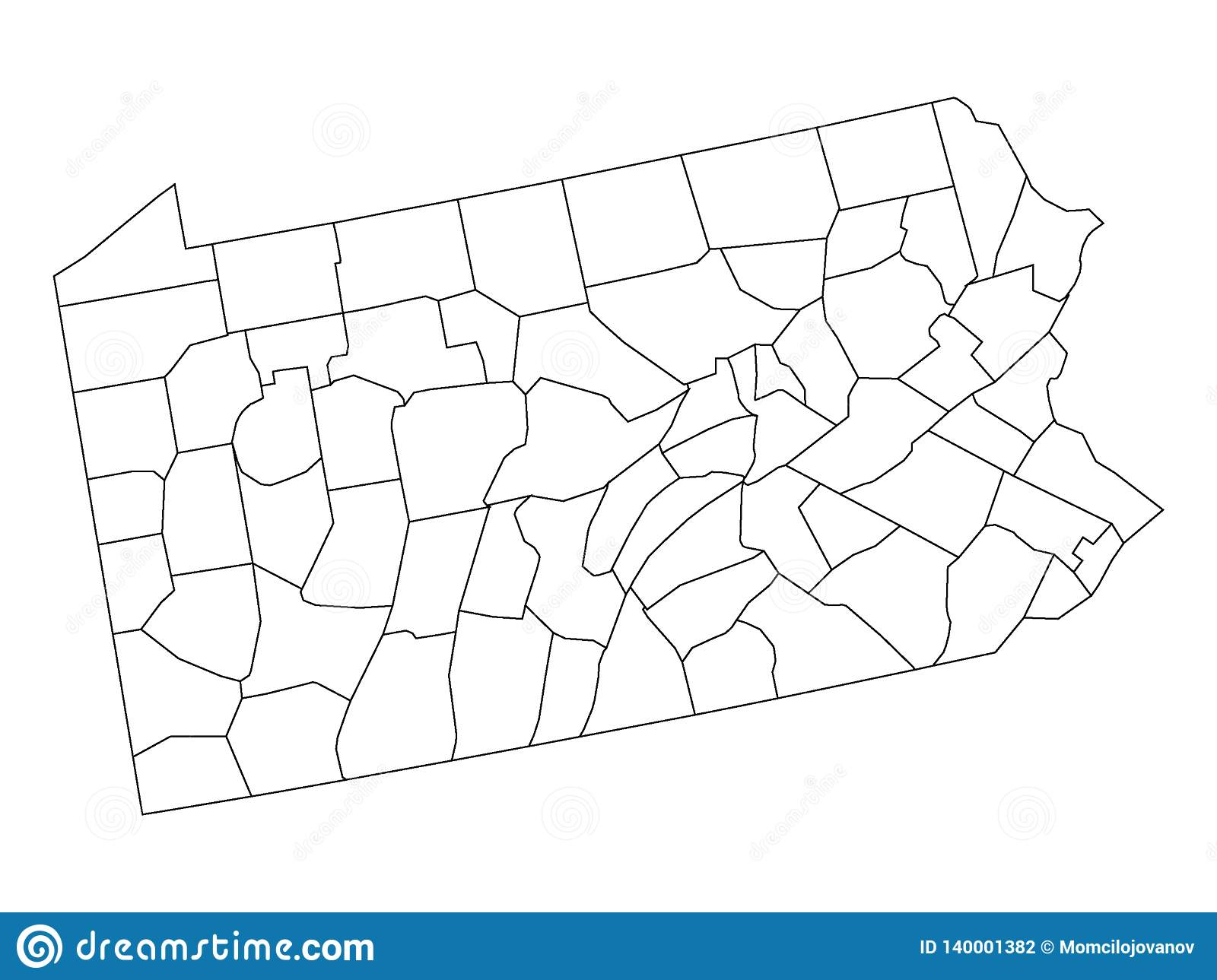 Counties Map Of US State Of Pennsylvania Stock Vector ... on state map of pennsylvania, united states of pennsylvania, cities in western pennsylvania, street maps of pennsylvania, downloadable map of pennsylvania, us states pennsylvania, usa map pennsylvania, bucknell map of pennsylvania, atlas map of pennsylvania, the shown on us map pennsylvania, wikimedia maps pennsylvania,