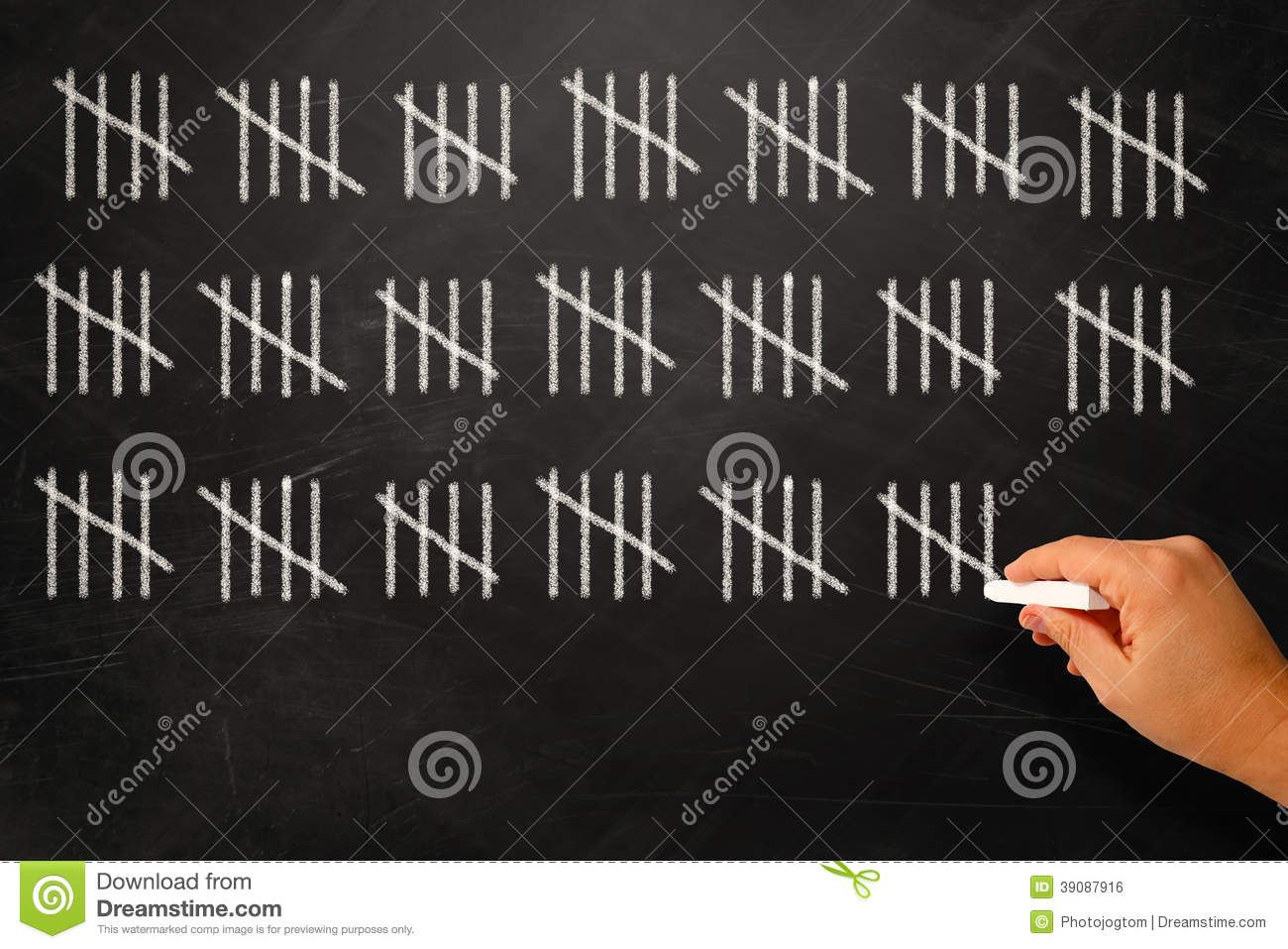 counting-days-drawing-sticks-black-board