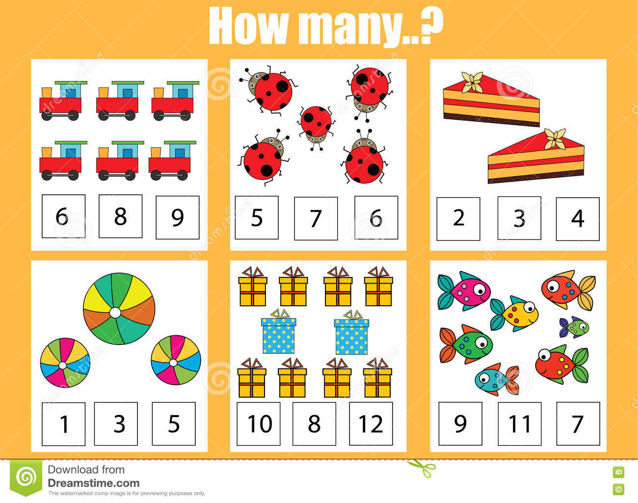 counting educational children game kids activity how many