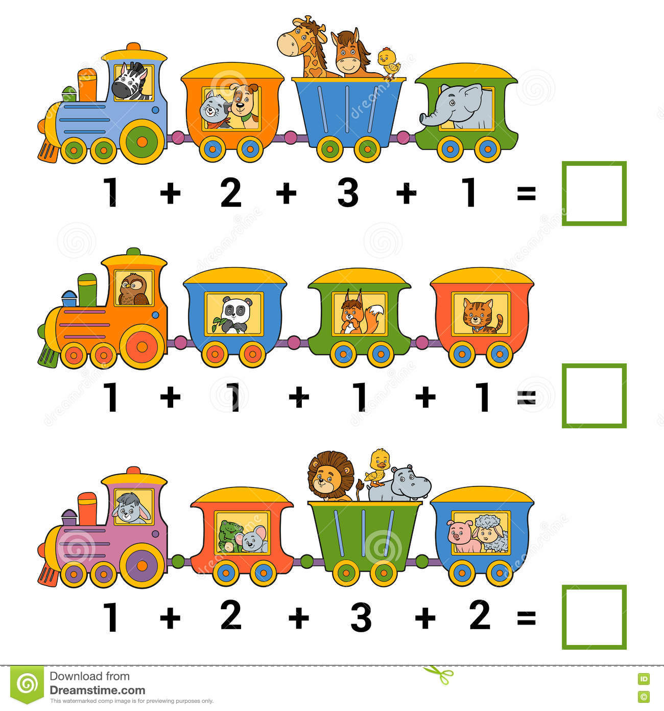 Counting Educational Game For Children Addition Worksheets – Addition Games Worksheets