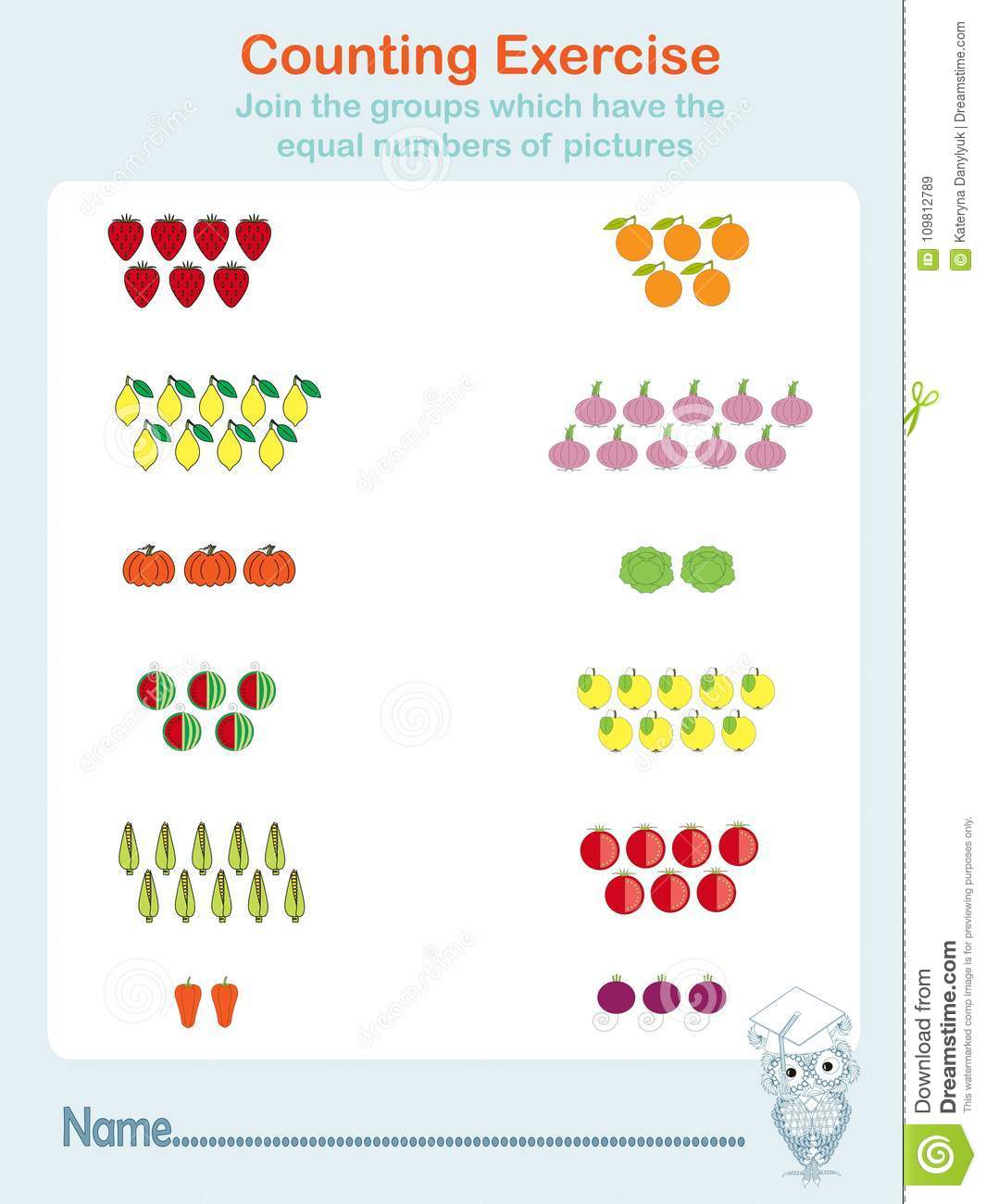 Counting Exercises, Educational Games Kids, Kids Activity Sheet ...