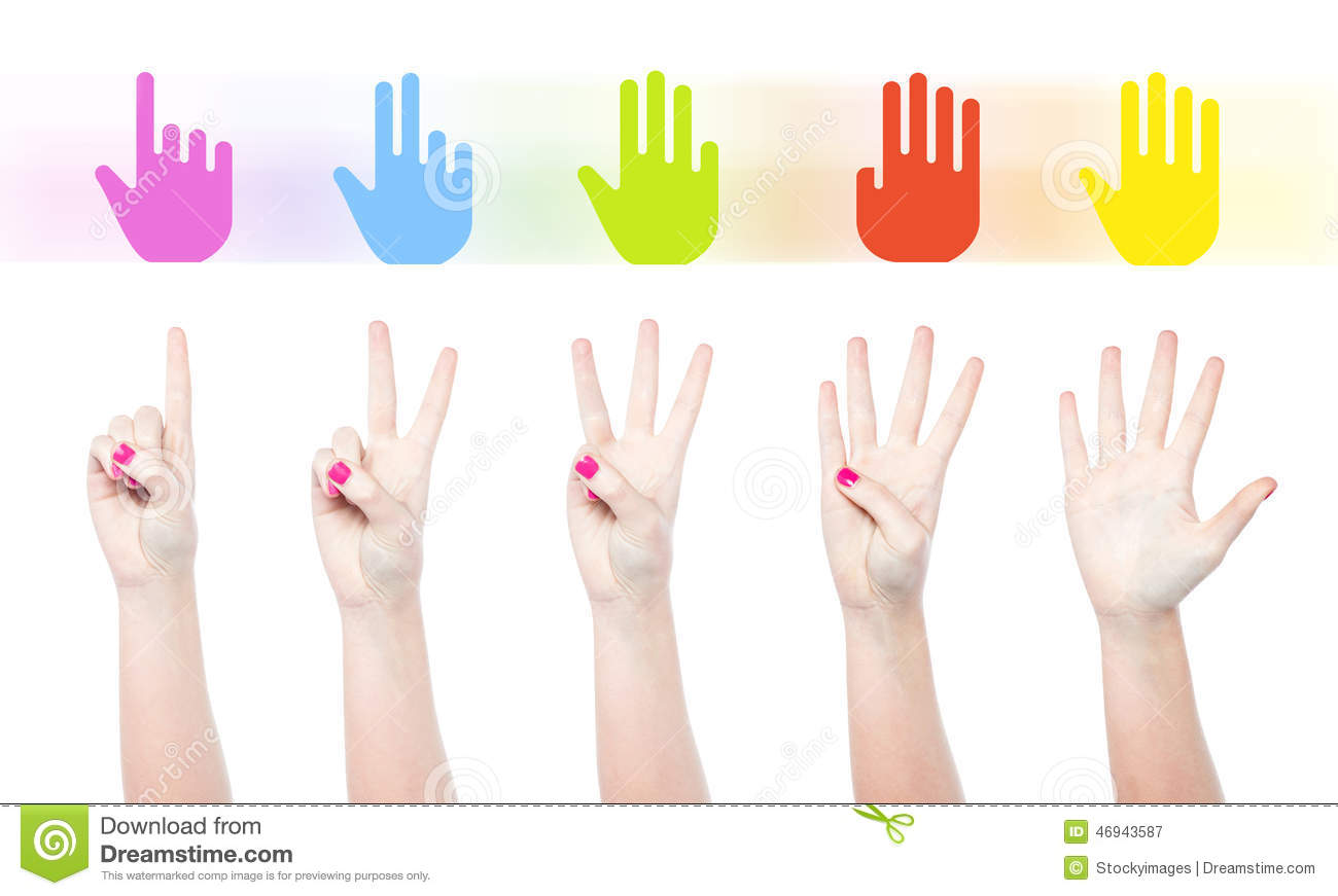 Counting female hands