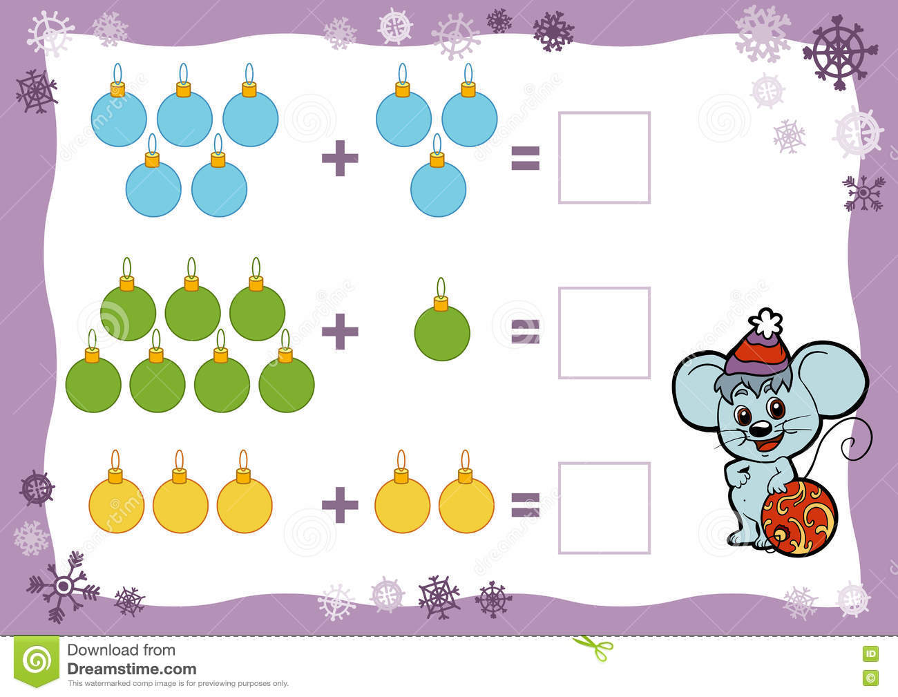Counting Game For Children Addition Worksheets Christmas Toys – Christmas Addition Worksheet