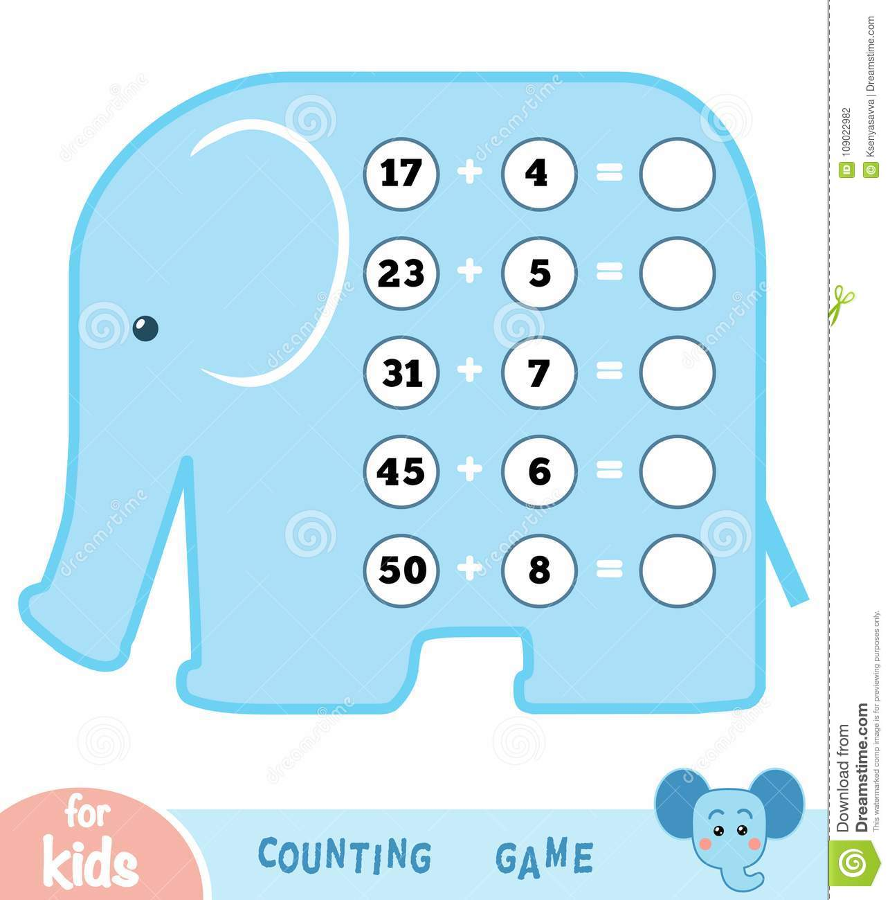Counting Game For Children. Count The Numbers In The Picture Stock ...