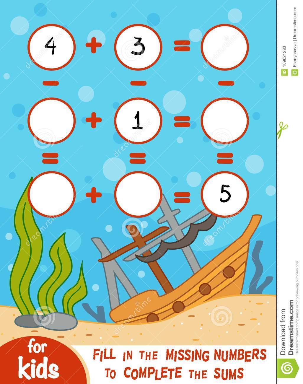 Counting Game For Children. Educational A Mathematical Game Stock ...