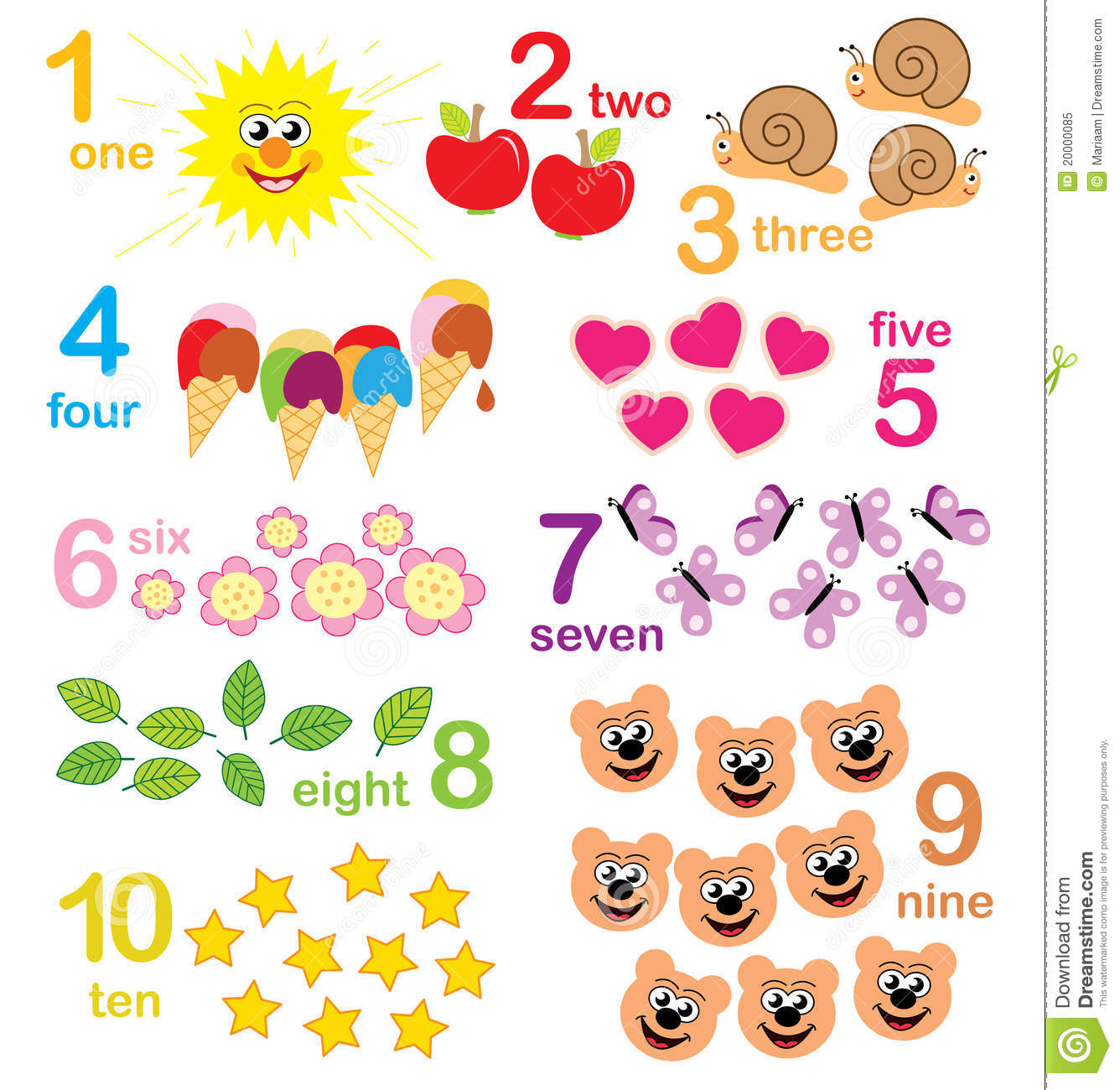 Counting Game For Kids Royalty Free Stock Photo - Image: 20000085