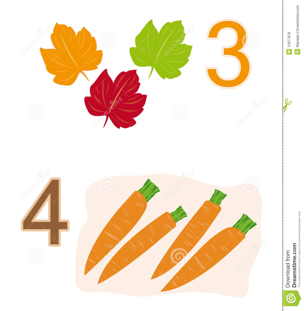 Counting game: number 3 & 4