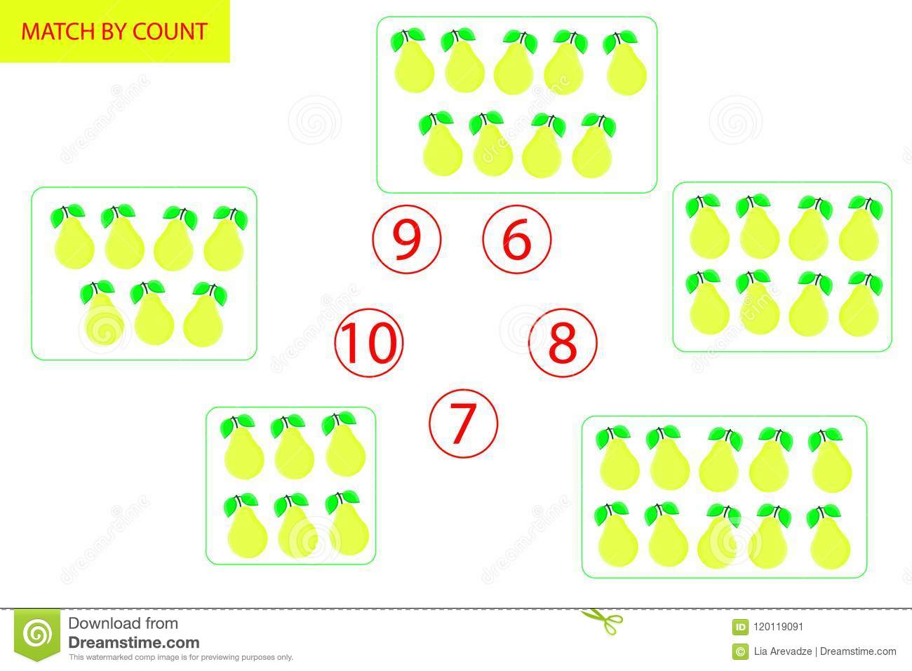 Counting Game For Preschool Children. Mathematics Task. How Many ...