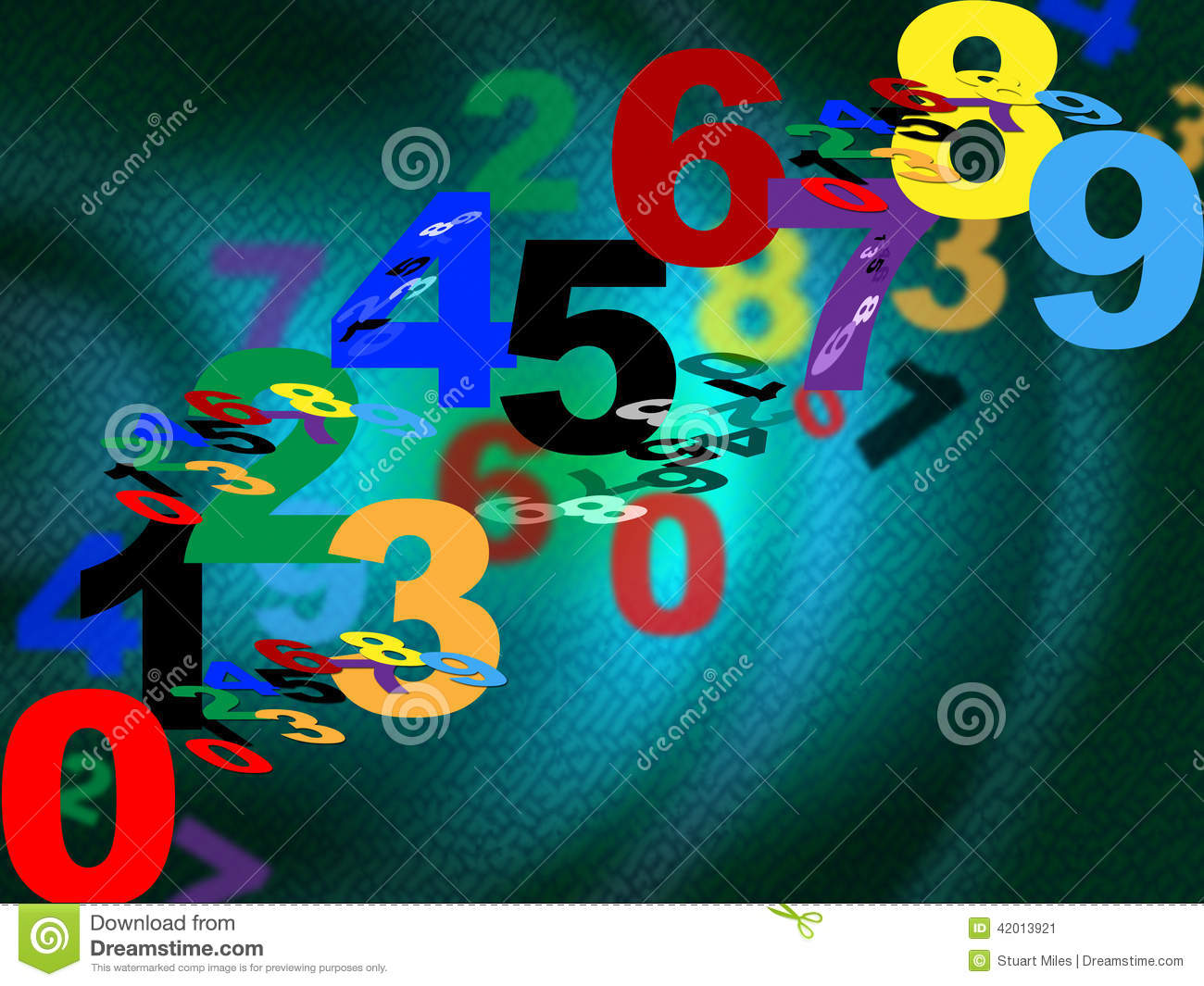 ... Counting maths means background design and numbers stock