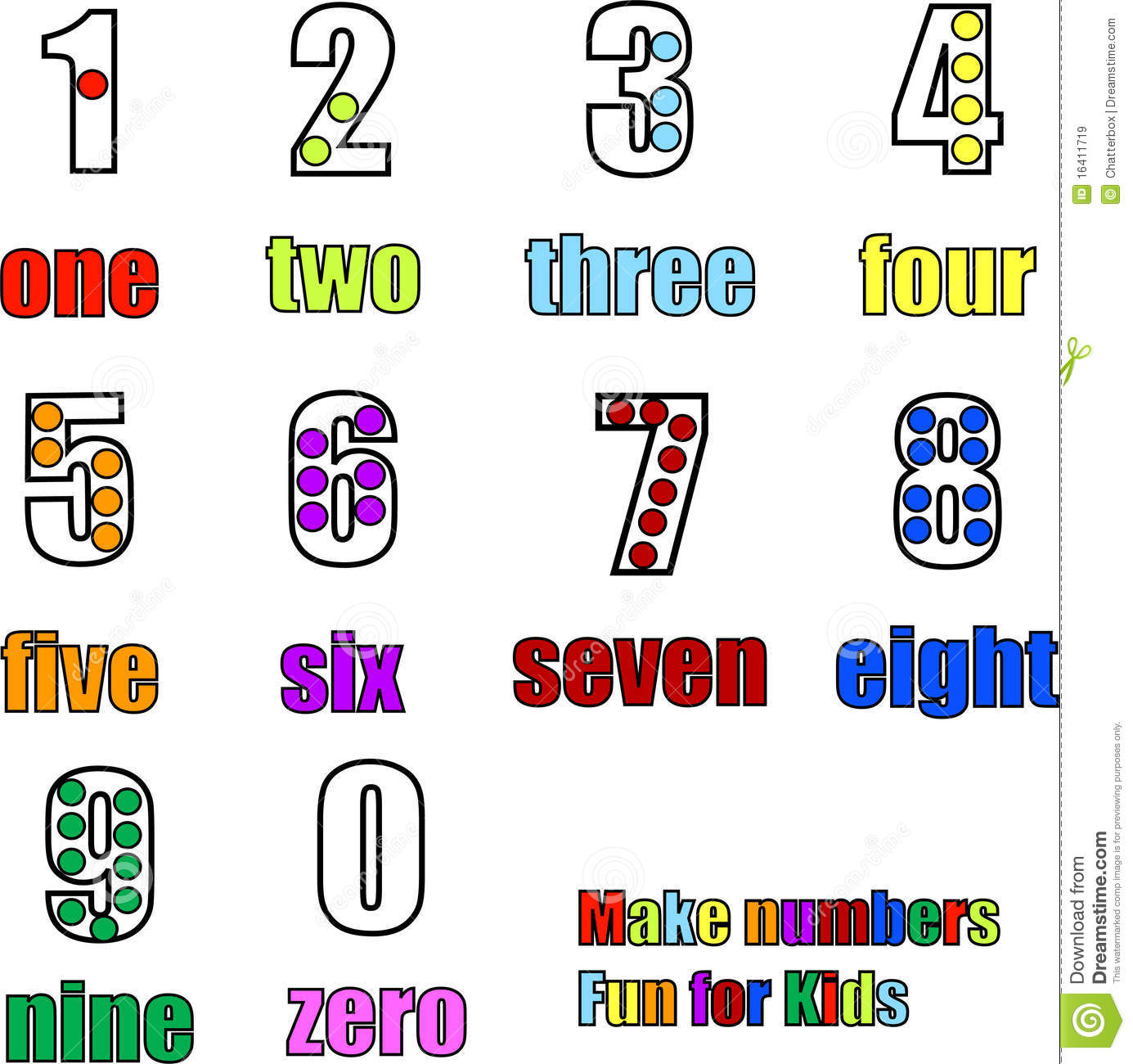 Royalty Free Stock Images Counting Numbers 0 To 9 One To Nine Image16411719 on Airplane Worksheets