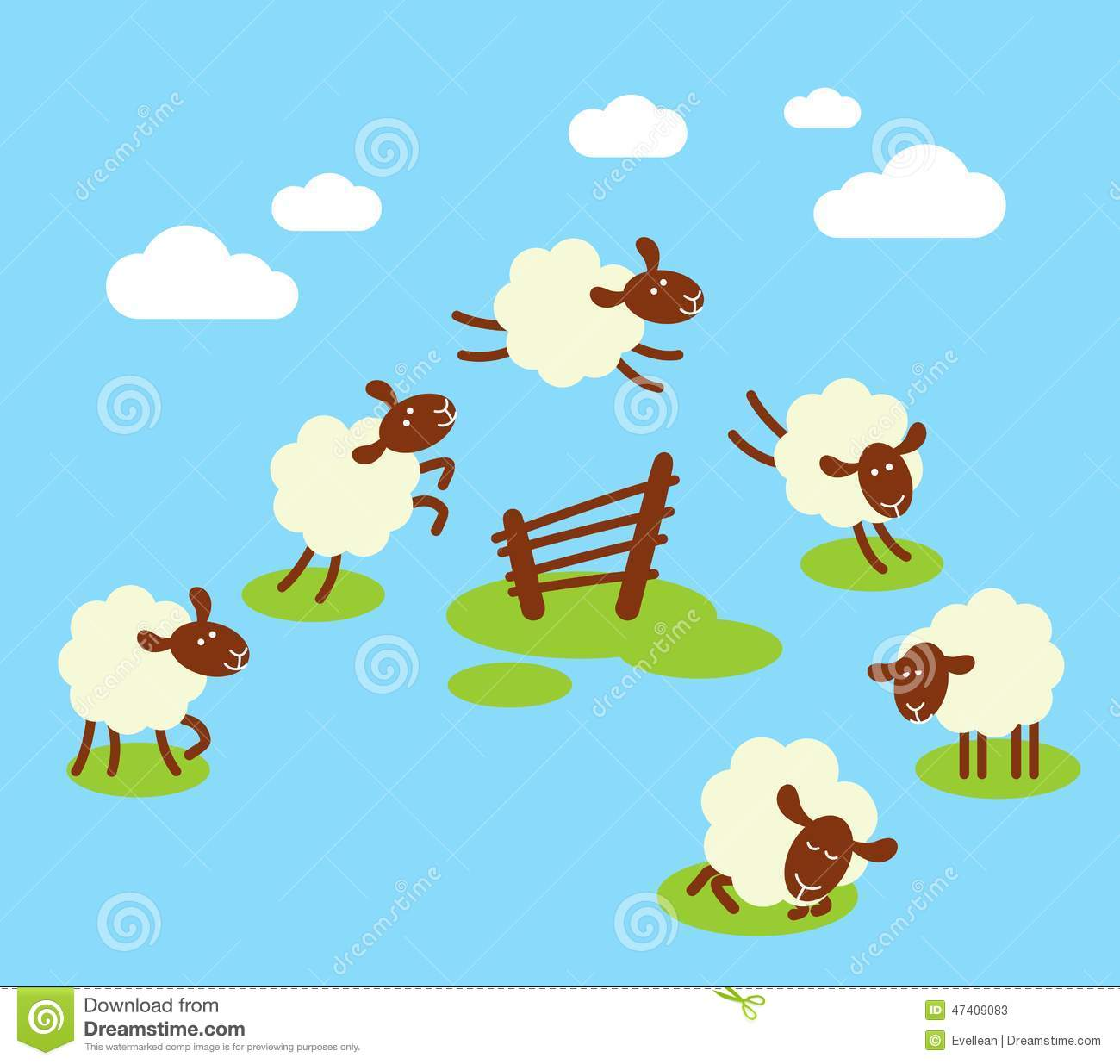 counting sheep to sleep concept stock vector image 47409083 clip art of farm animals at the fair clip art of farm animals printables