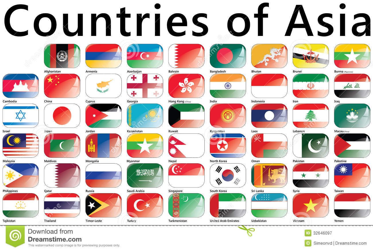 flags asian countries stock illustrations 263 flags asian