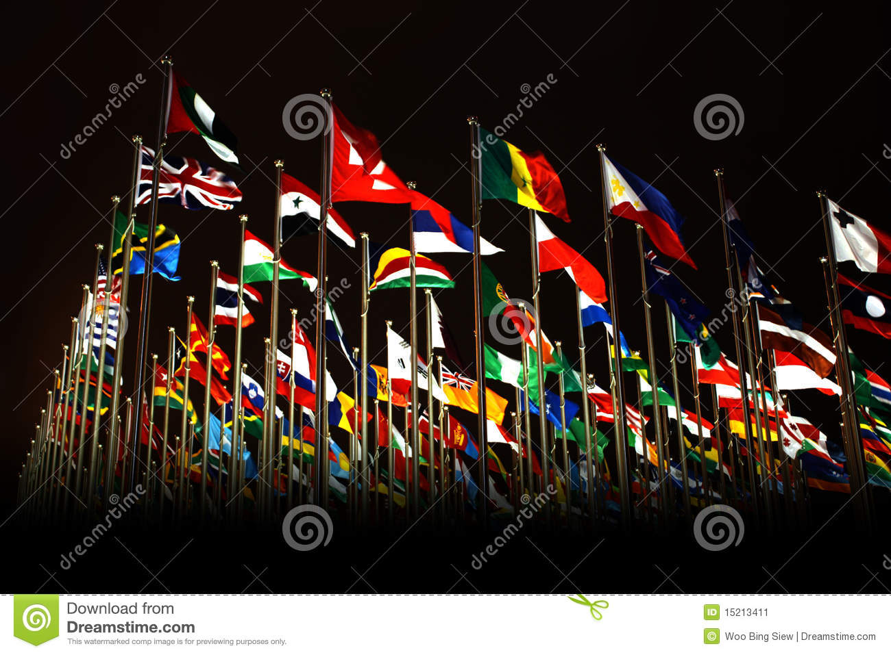Countries flags in Shanghai World Expo