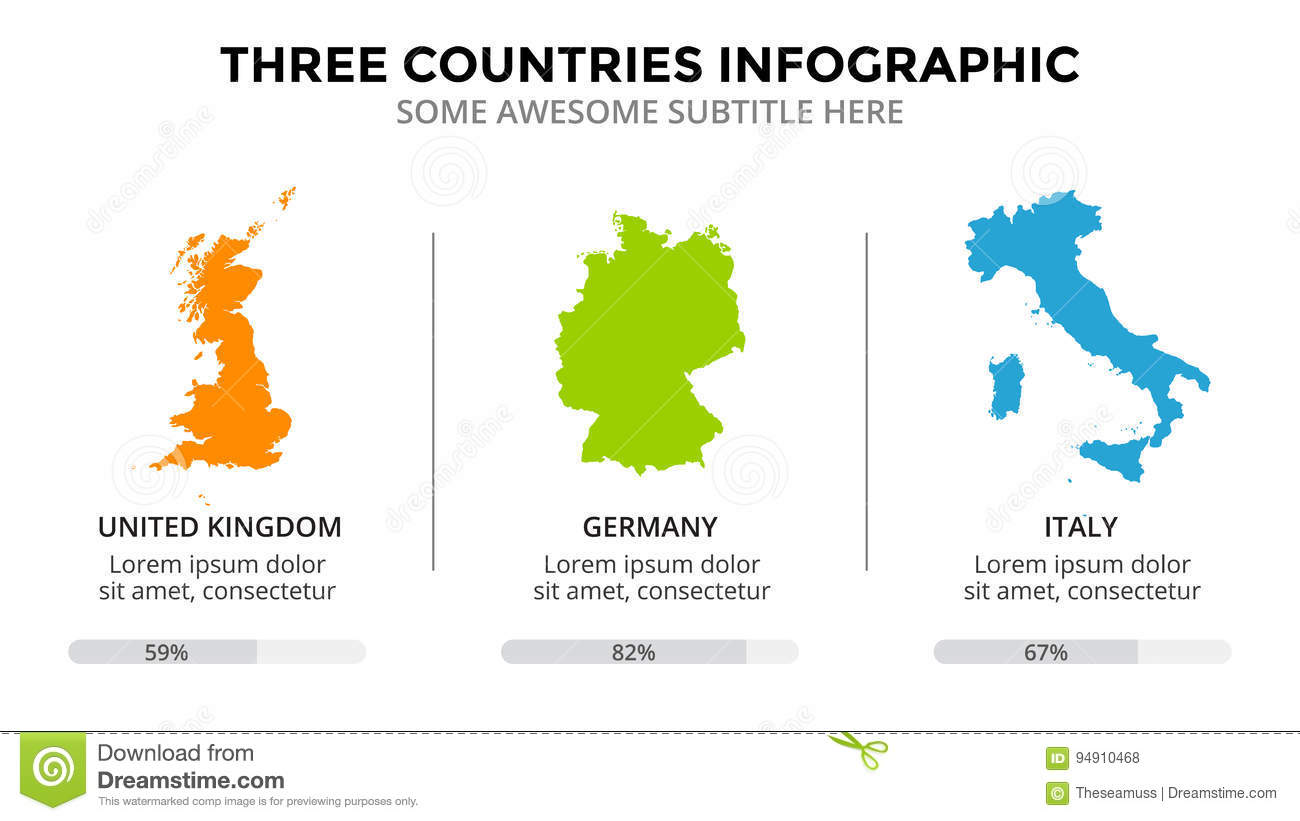 countries map infographic global business marketing presentation