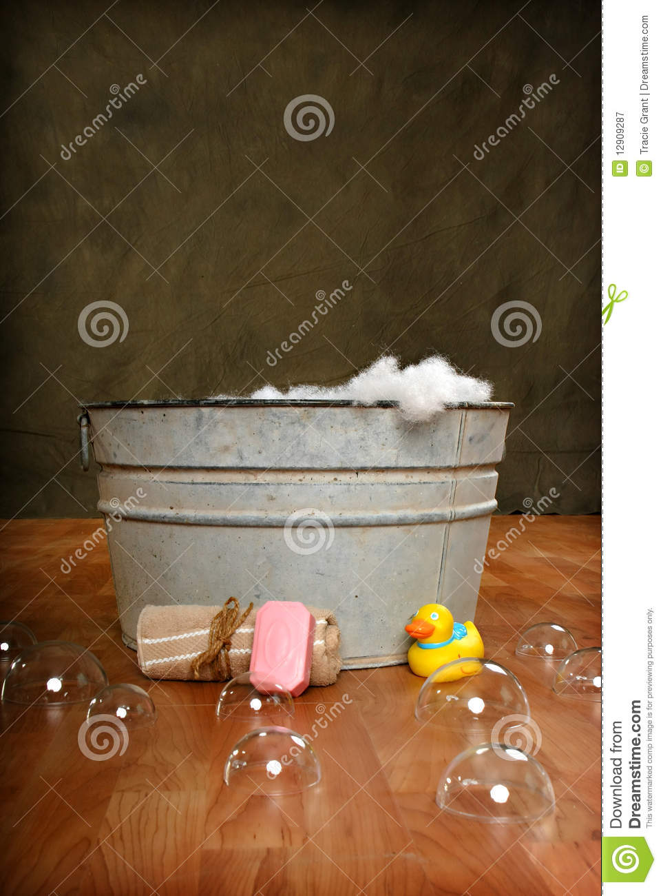 Country Bath Time Royalty Free Stock Photography Image