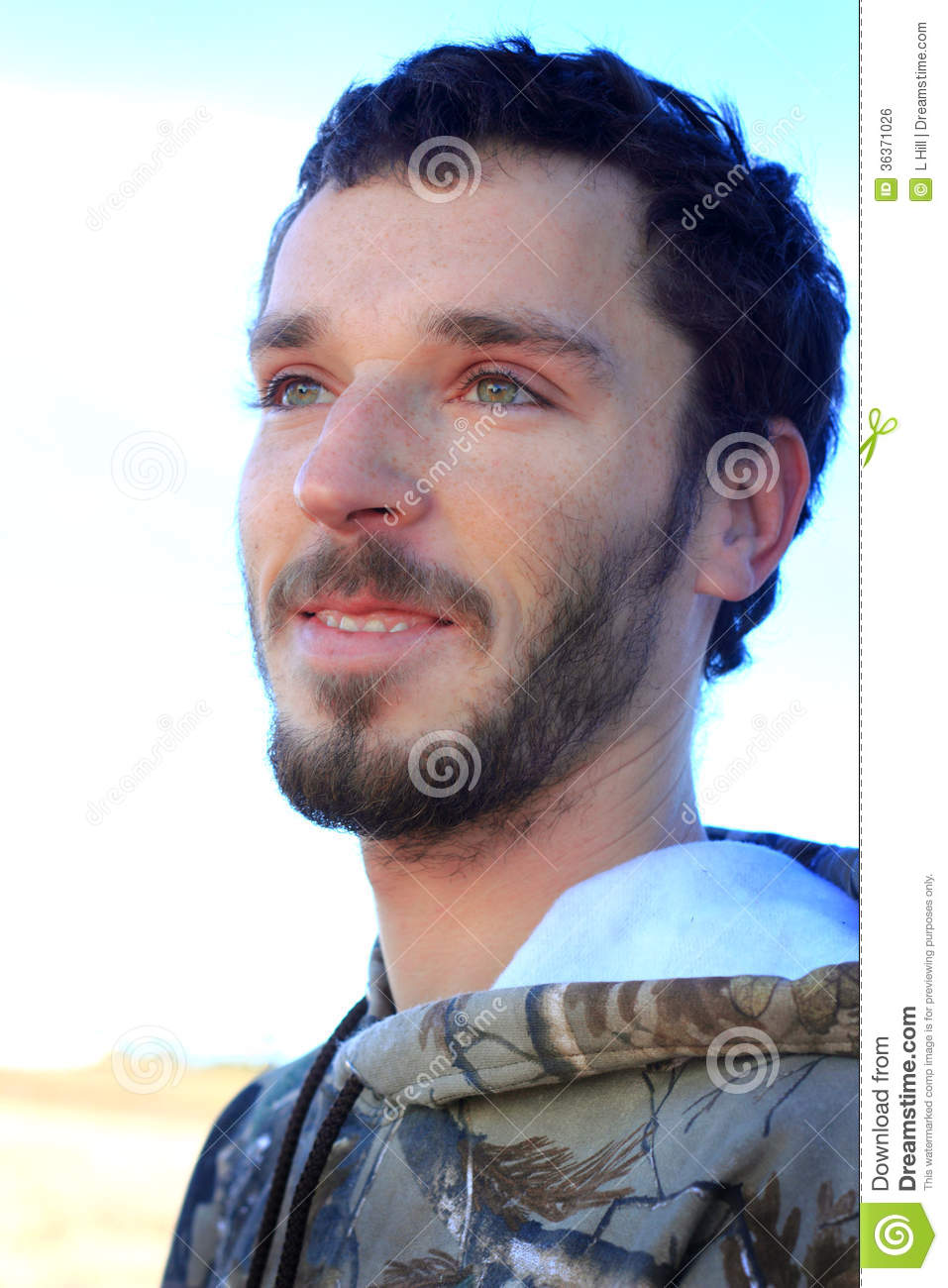 Country Boy With Smiling Eyes Stock Photo Image 36371026