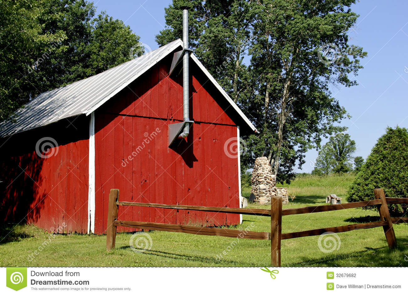 Country Cabin Stock Photography Image 32679682