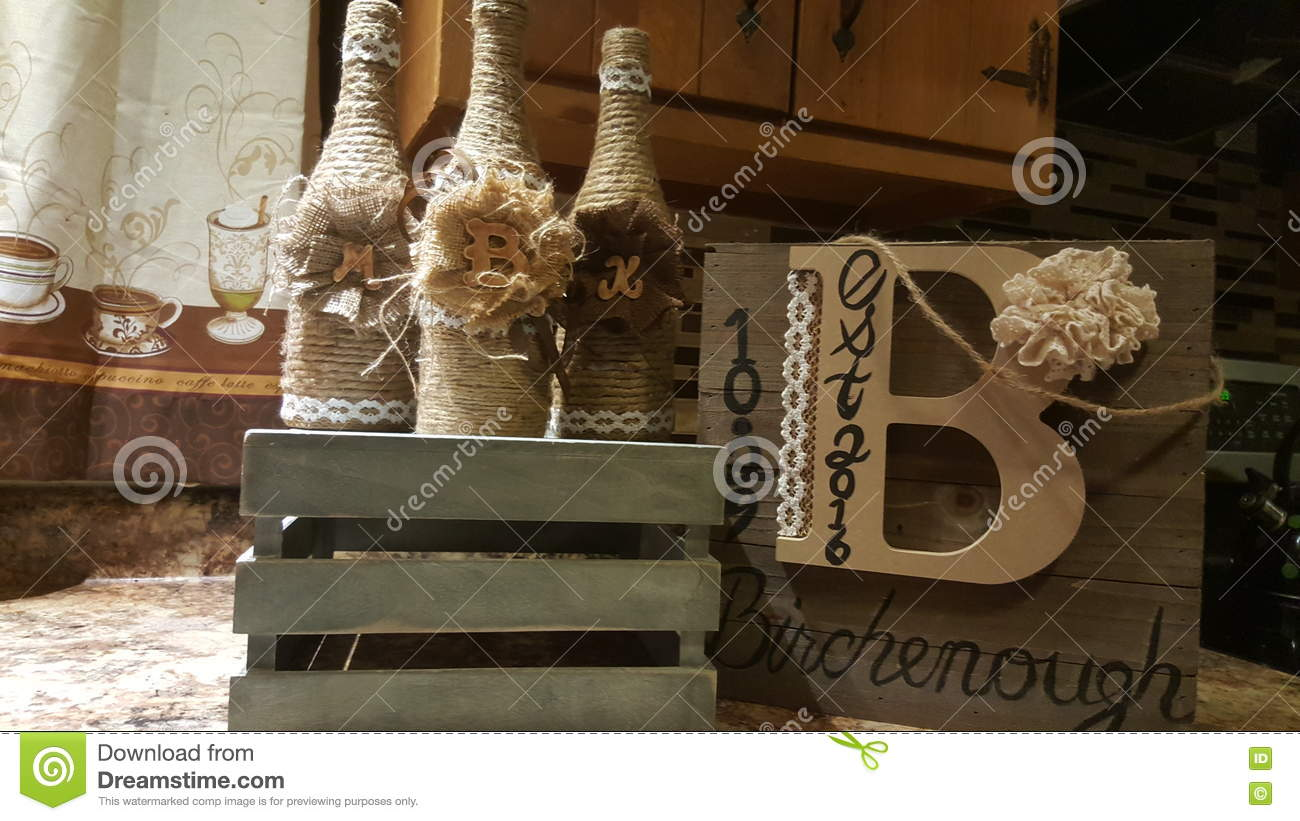 bottles chic country decor - Country Chic Decor