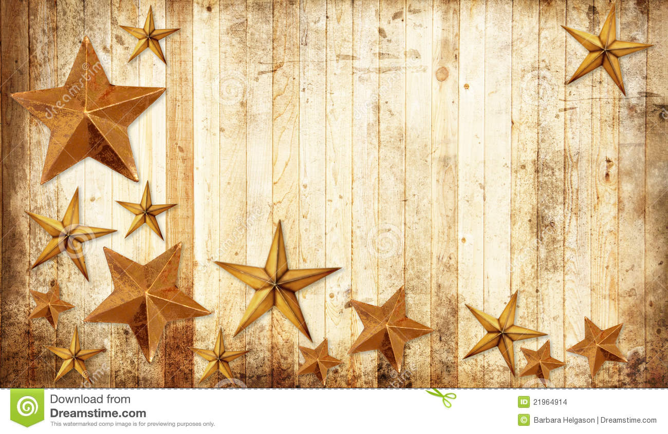 Country Christmas Stars Stock Images - Image: 21964914