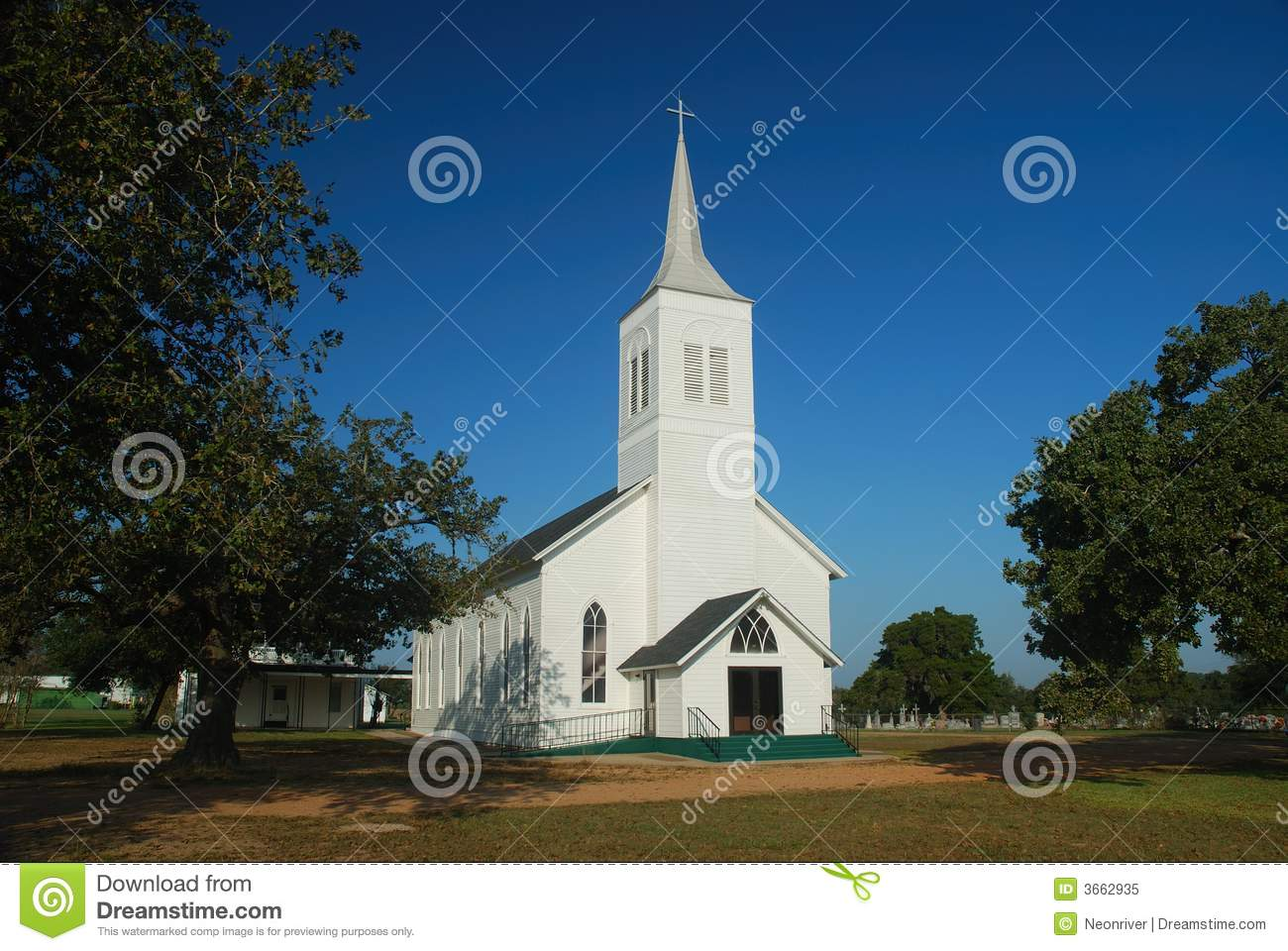Country church is the focal point of the church ground and cemetry