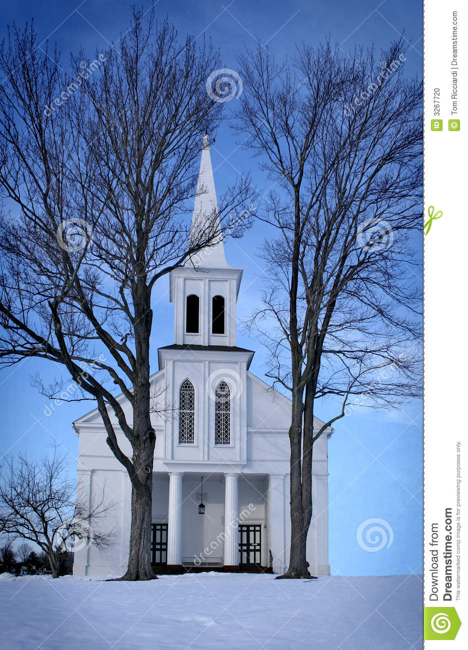 Country Church In Winter Stock Photo Image 3267720