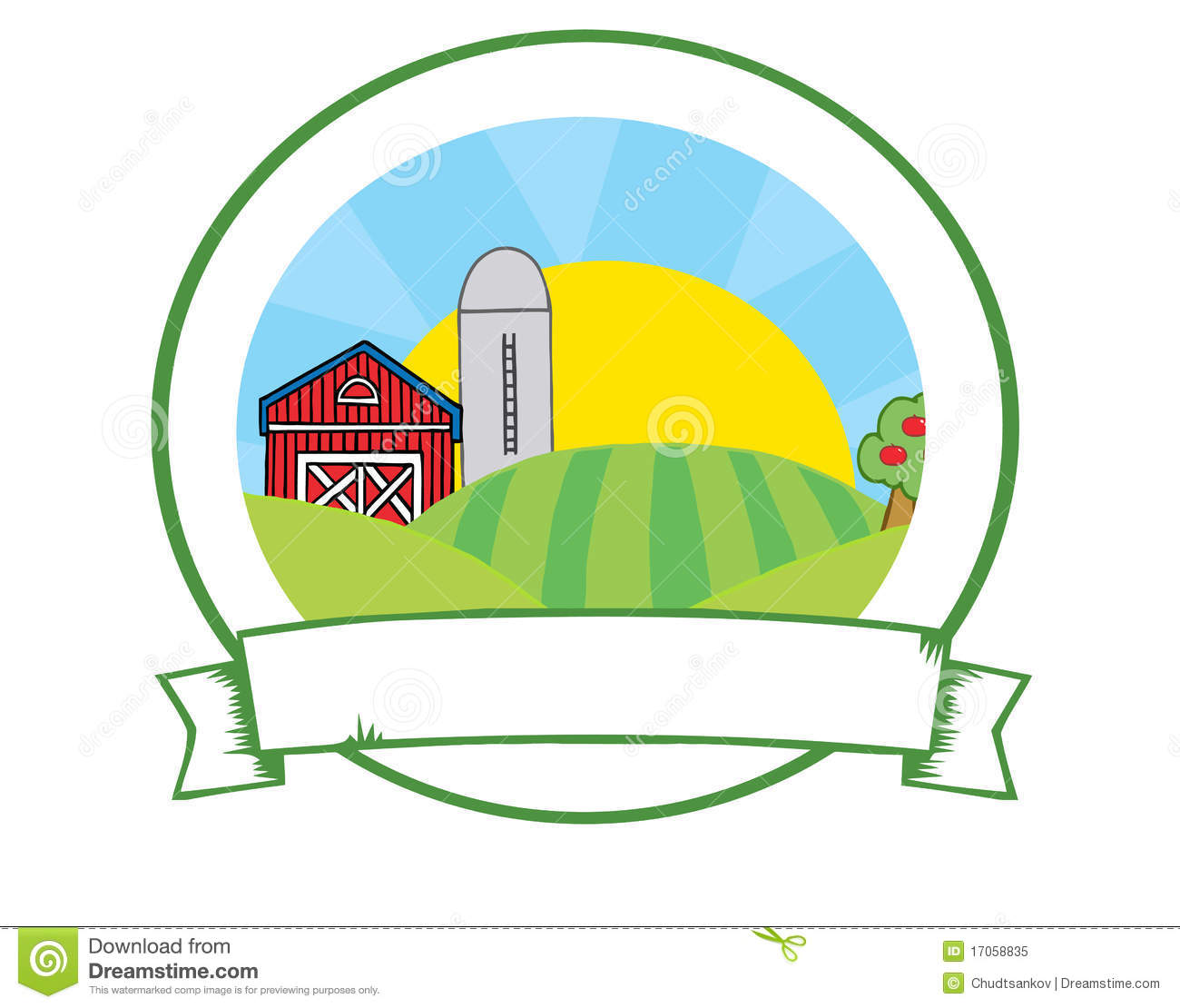 Country Farm Banner Stock Vector Image Of Company