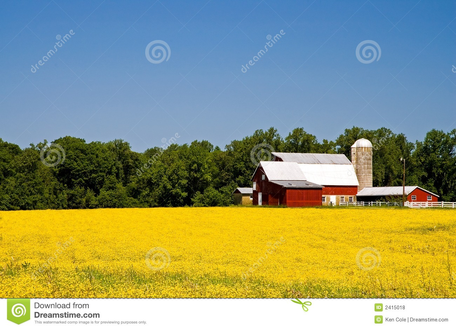 Country Farm In Springtime Royalty Free Stock Photos ...