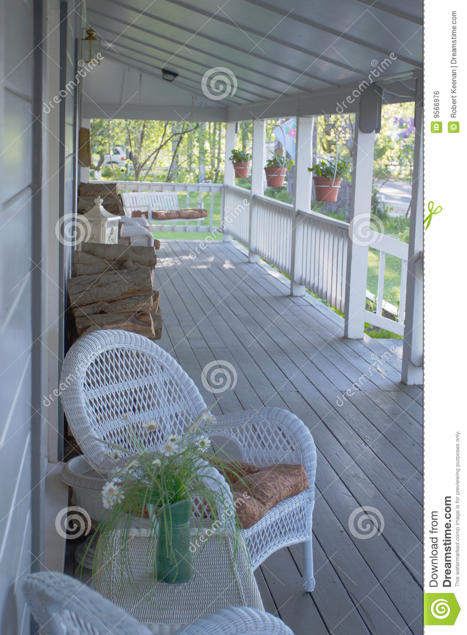 Country Front Porch Stock Photo Image Of Resort Country