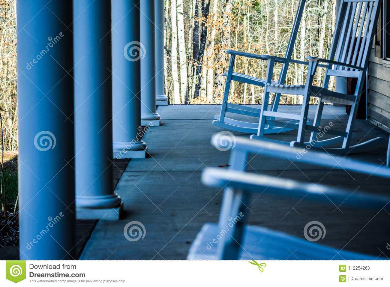 Phenomenal Country Front Porch With Rocking Chairs Stock Image Image Creativecarmelina Interior Chair Design Creativecarmelinacom