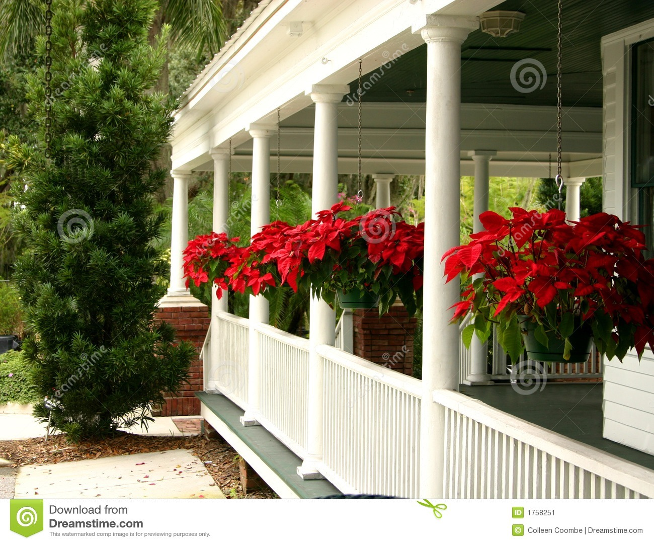 Country Home Porch Stock Image Image Of Flowers