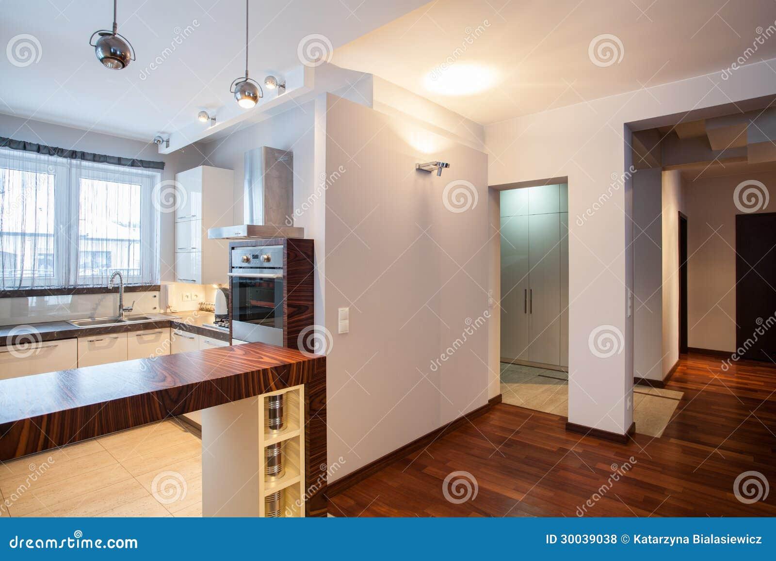 Country Home Kitchen Corridor Royalty Free Stock Photos