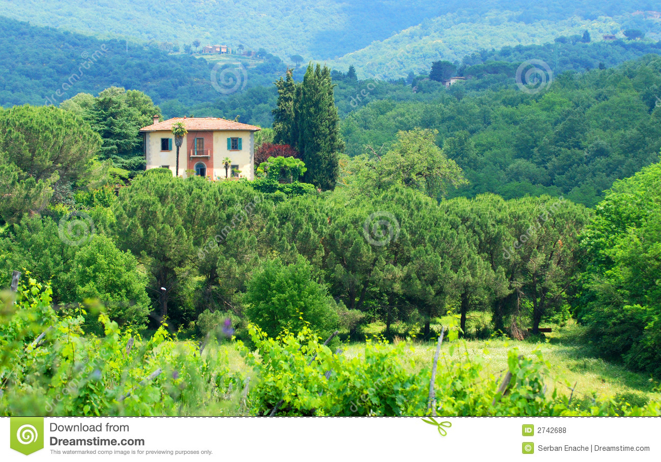 Country house stock photo image of hills building italy for Country house online