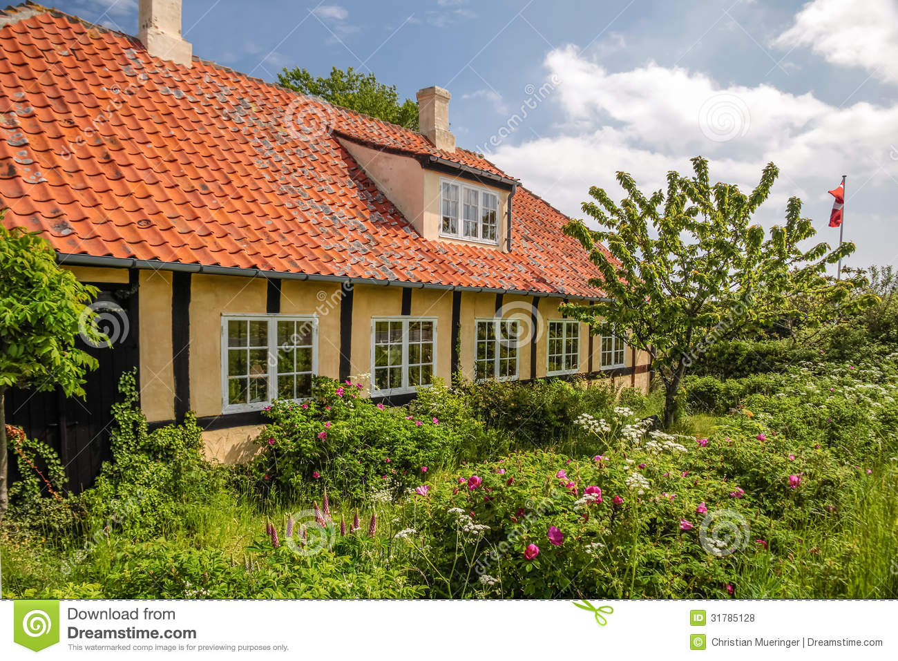 Country house on bornholm royalty free stock photos for Country house online