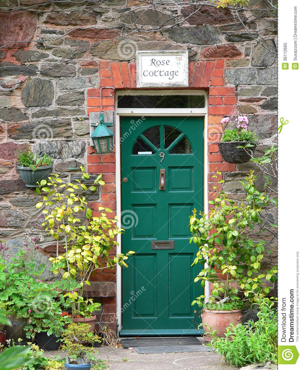 Country House Door Stock Image  Image Of Arched  Blue