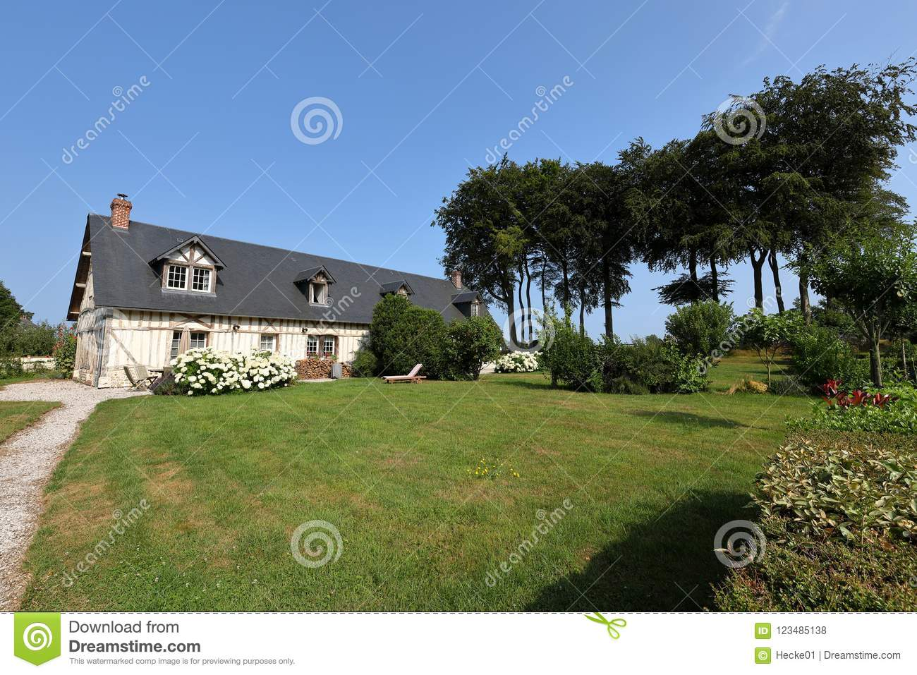 Country House In Normandy Stock Photo Image Of Traditional 123485138