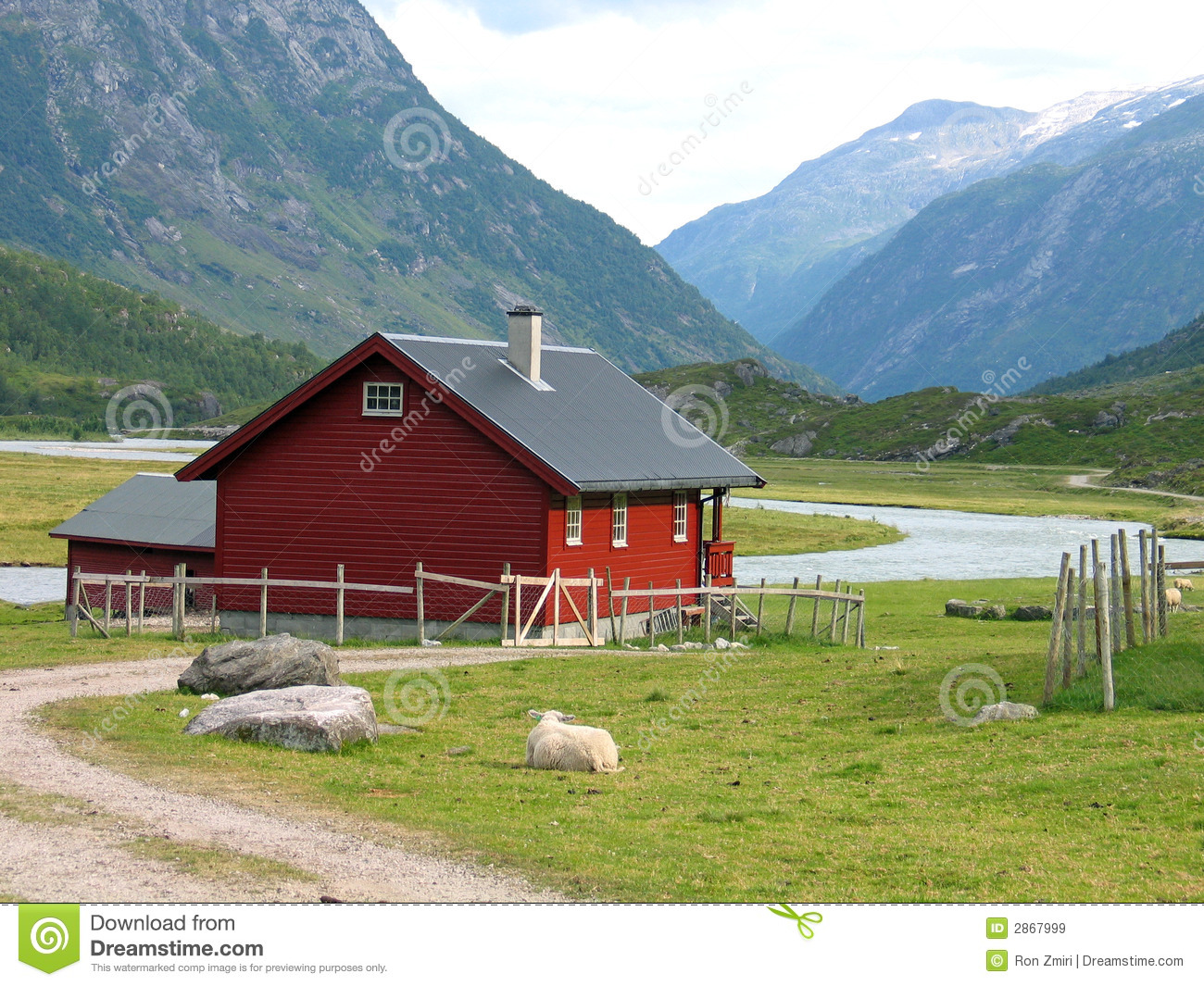Country house in norway royalty free stock images image for Country house online