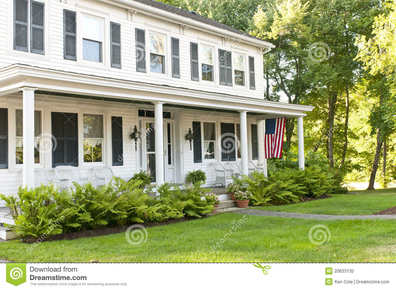 Country House Porch Royalty Free Stock Photo Image 20633135