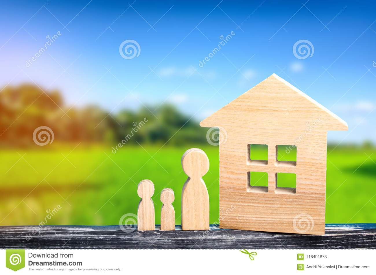 Country house, rest with the family, fresh air, pristine nature, the concept of real estate, rent of apartments on vacation, resor