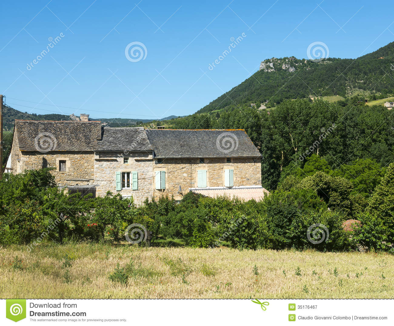 Country house in the tarn valley stock image image of for Country house online