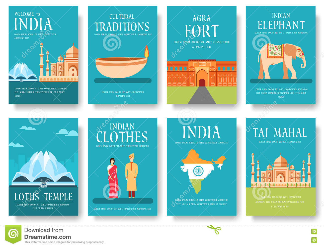 Tourism India Banners Small Flag Banners