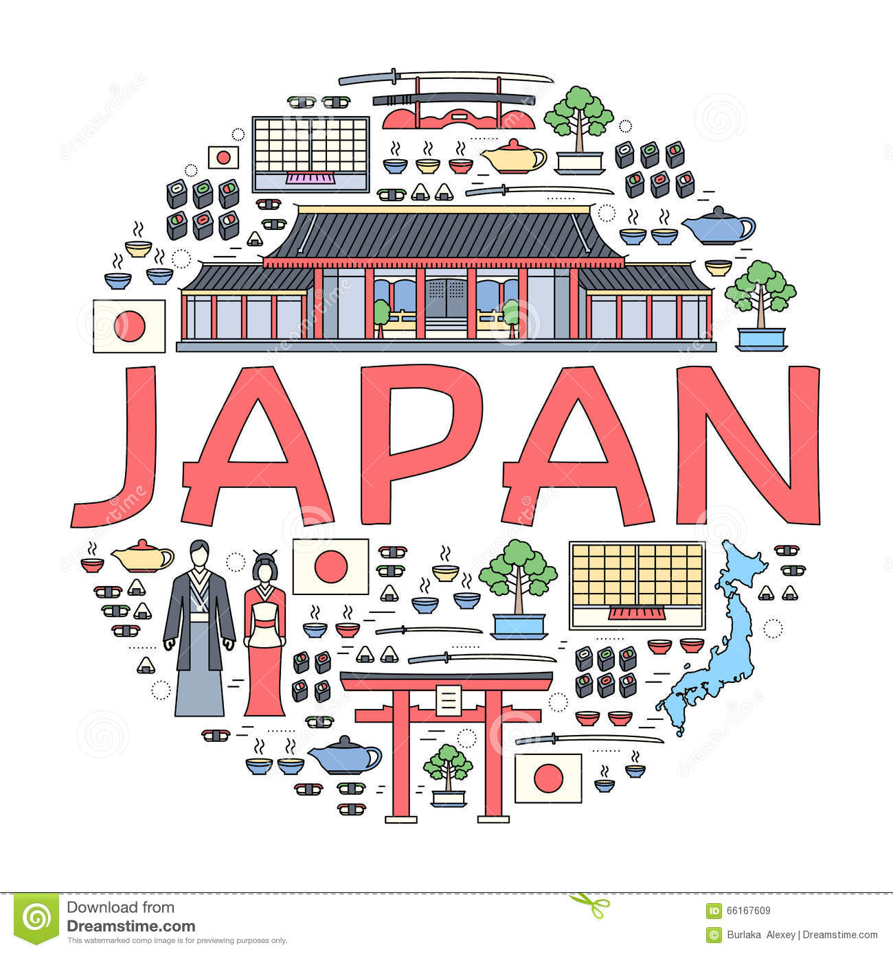 Country Japan Travel Vacation Guide Of Goods, Places And