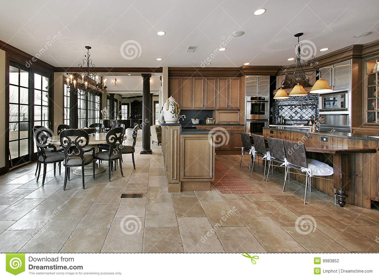 Country Kitchen In Luxury Home Stock Photography Image