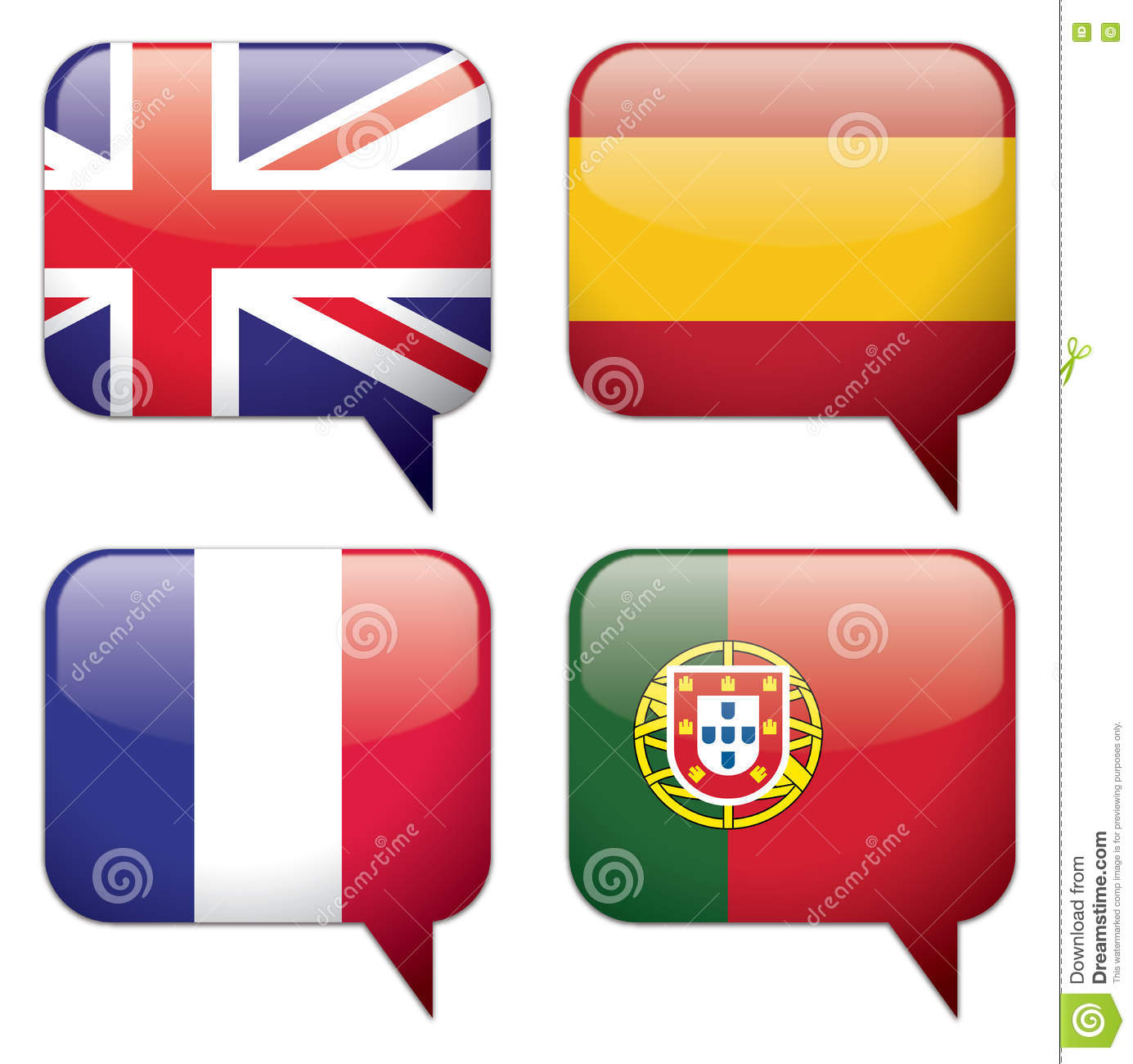 Country / Language Bubbles stock vector  Illustration of