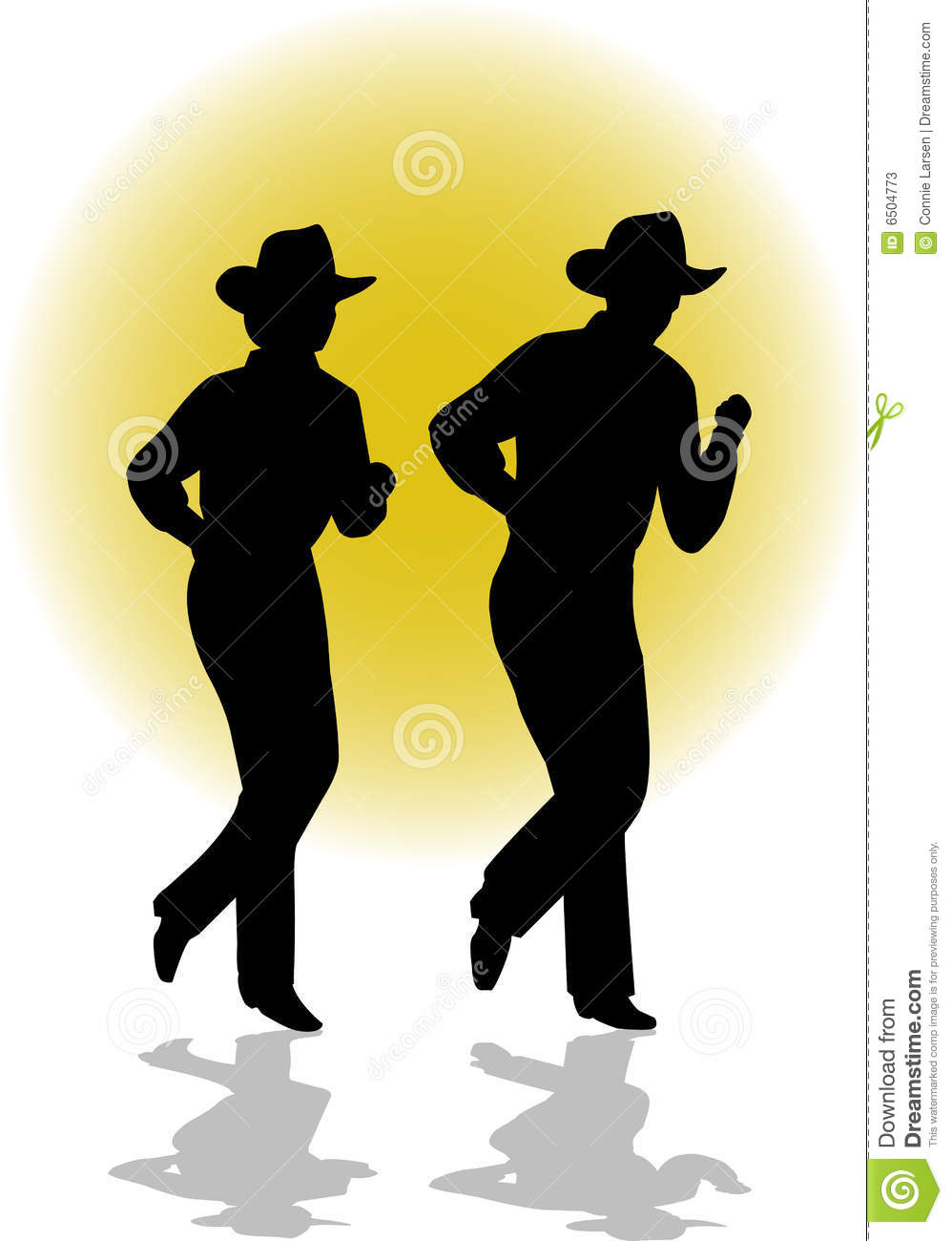 Country Line Dancing Couple/ai Stock Photos - Image: 6504773