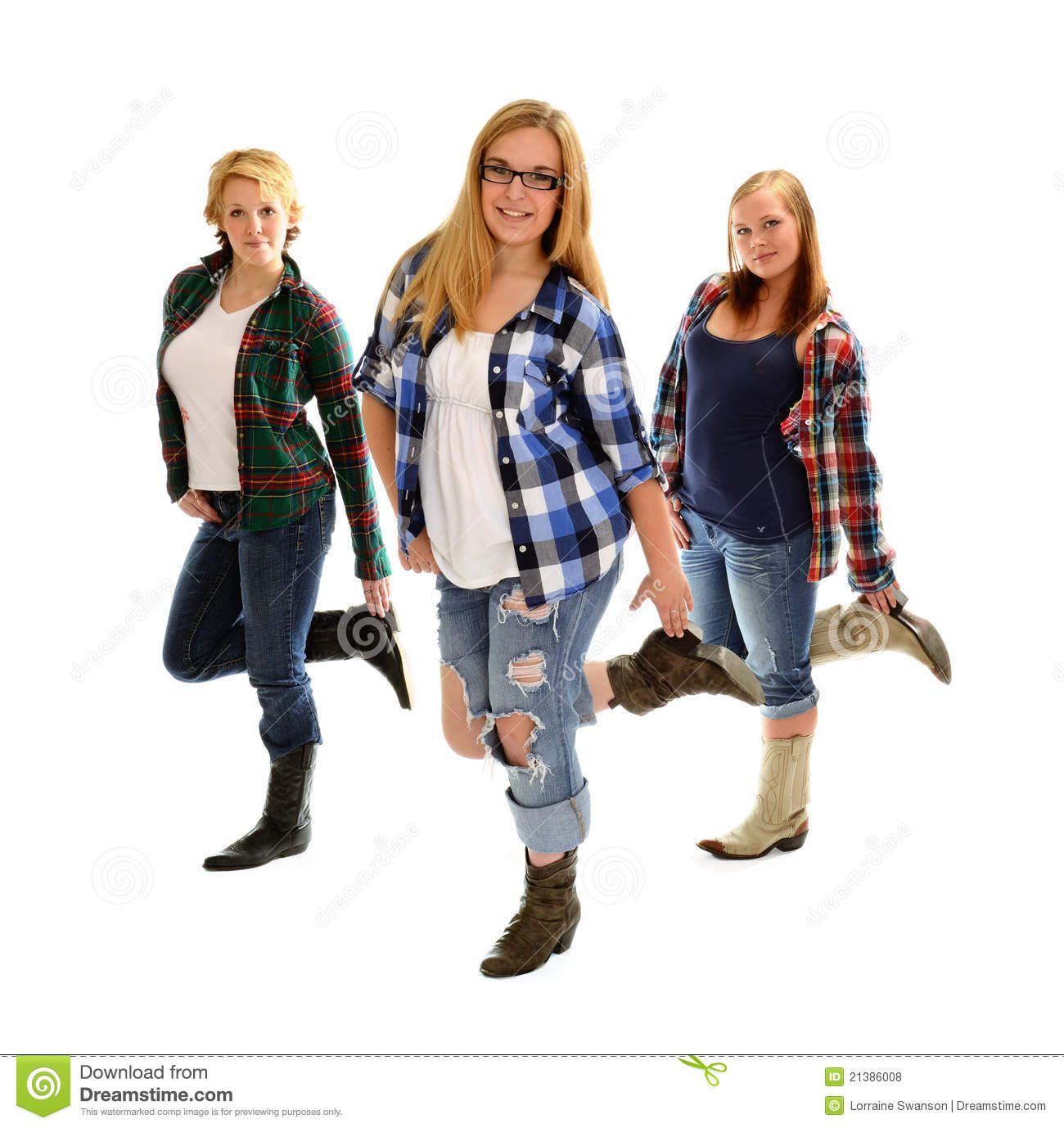 Country Line Dancing Girls Royalty Free Stock Photos ...