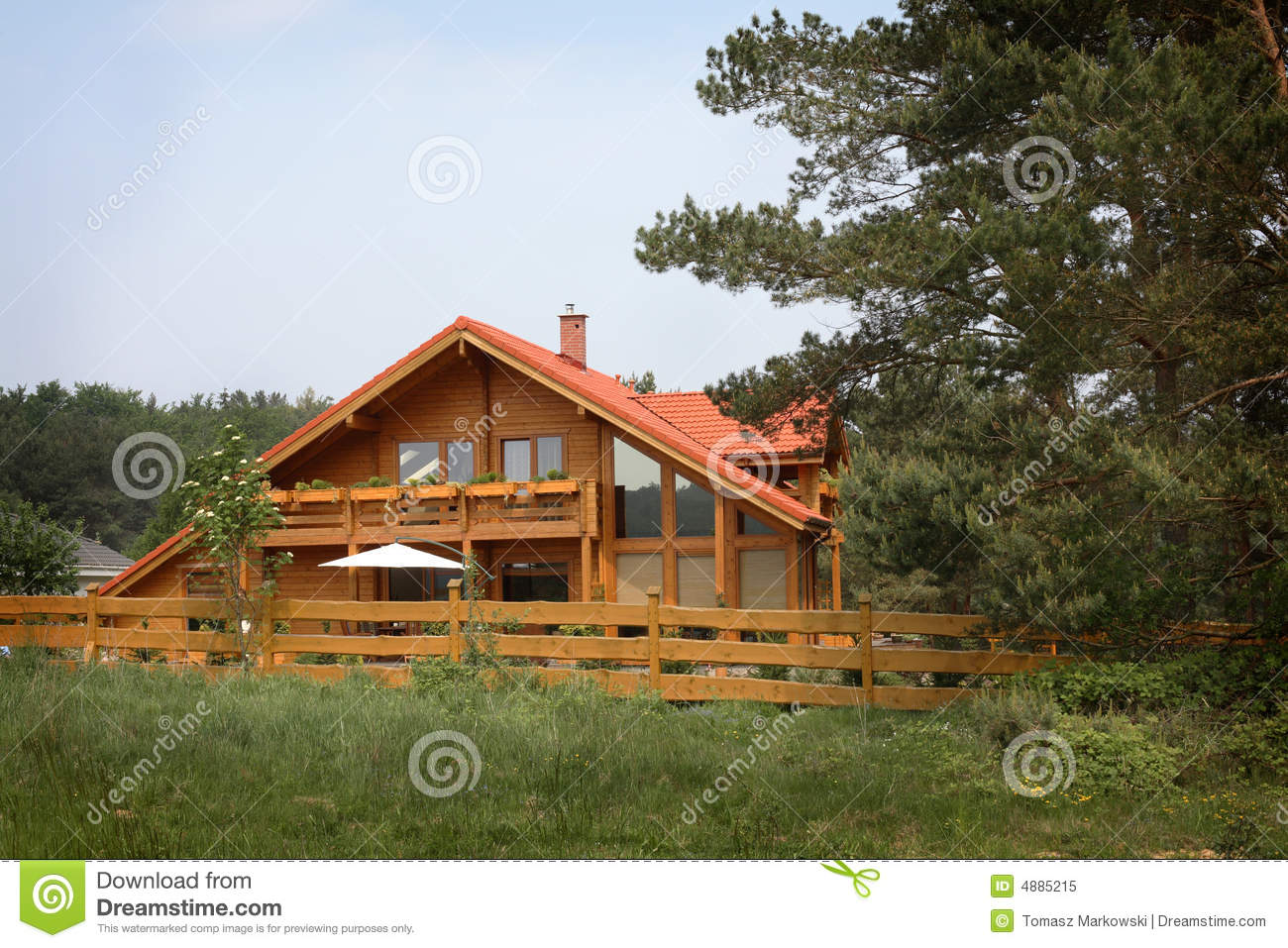 Country Log Home Royalty Free Stock Photo Image 4885215